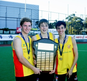 Jack, Robbie and Alex with the U17Boys Junior State Championship Shield for 2013