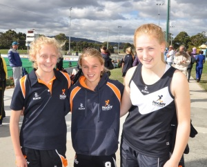 Phoebe, Maddy & Isobel at the U15Girls Nationals 2014 in Hobart